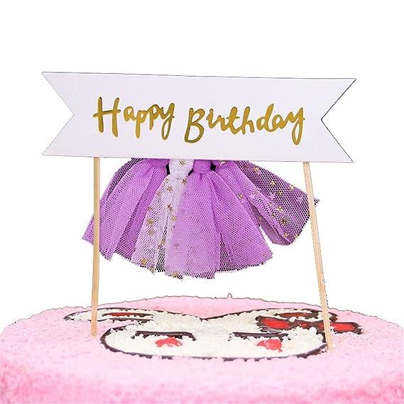 Amazon Crystalzhong 50 Packs Happy Birthday Cake Topper