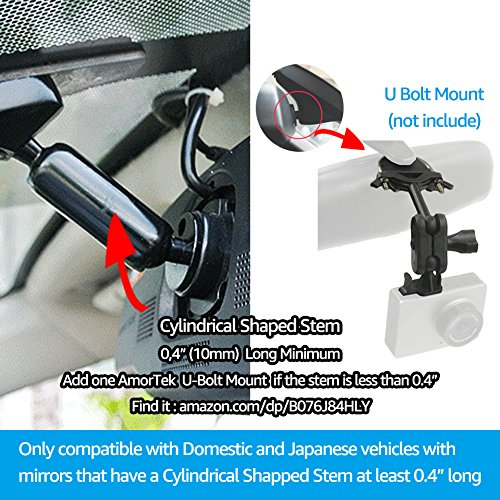 Dash Cam Mirror Mount Kit for Rexing V1,Falcon F170,Z-Edge,Old Shark,YI,Kdlinks X1,VANTRUE and Most Dash Camera and Car Camera