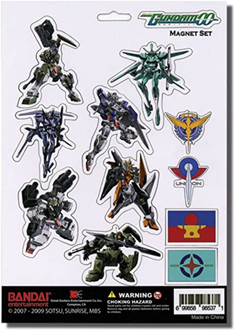 Amazon.com: GE Animation Gundam 00 Magnet Set Cool Anime ...