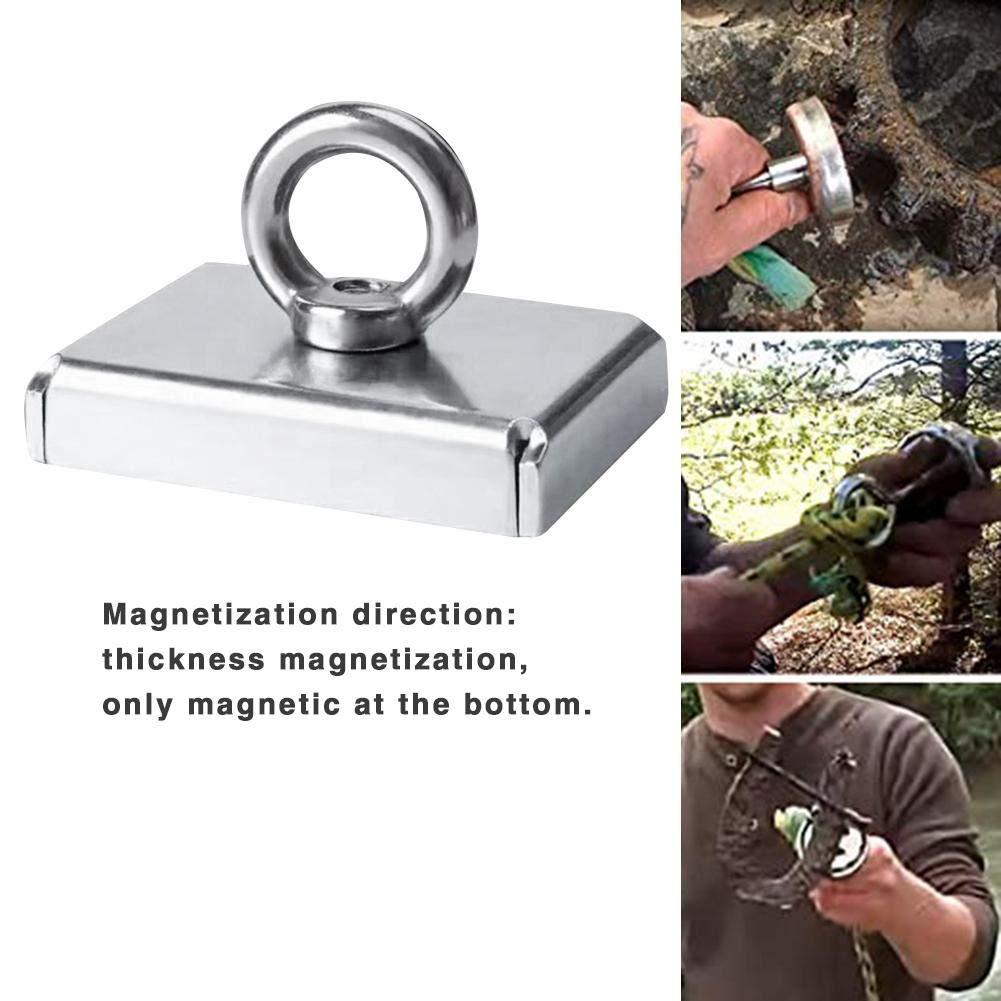 windyday Magnete Angeln mit /Öse Neodymium Topfmagnet Super Stark Magnet 100kg Perfekt zum Magnet Angeln Magnetfischen mit /Öse Neodymium Topfmagnet