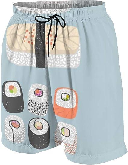 Delicious Sushi Teenager Boys Beachwear Beach Shorts Pants Board Shorts