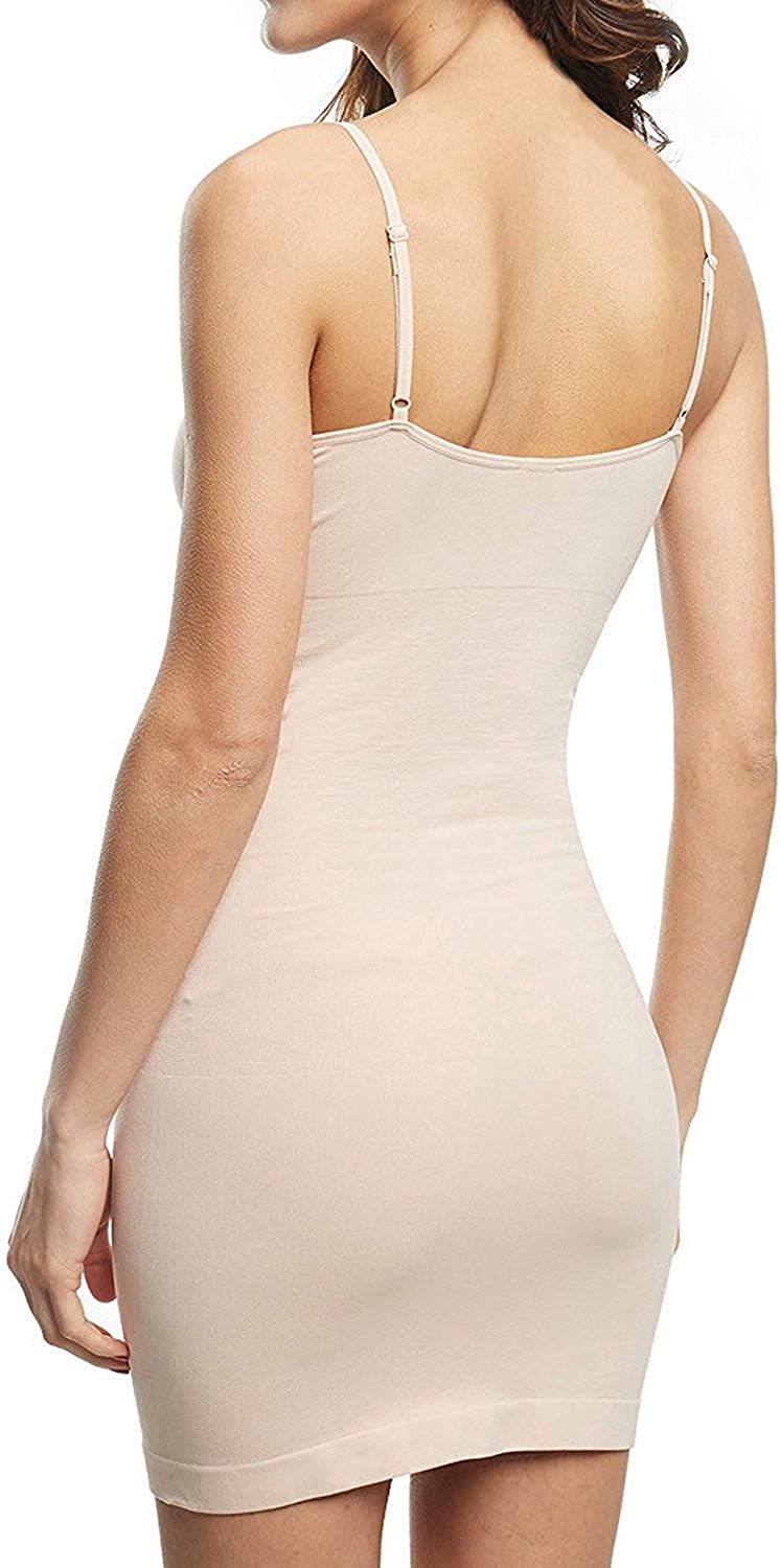 Franato Damen Full Body Slip Shapewear Control Kleid nahtlos Body Shaper