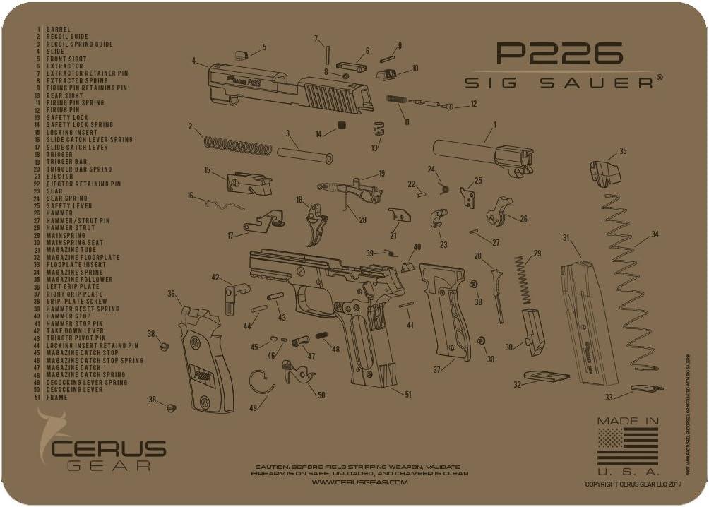 Cerus Gear Sig Sauer P226 Schematic Promat, Coyote Tan