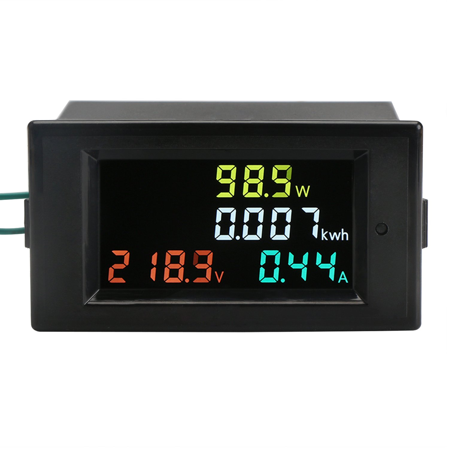 AC Power Meter, DROK AC 80-300V 100A Voltage Current Color LCD Display  Panel, Digital Voltmeter Ammeter Watt Active Power Energy Monitor  Multimeter Volt Amp ...