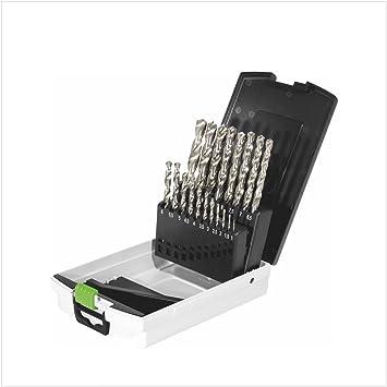 Festool 498981 - Caja de brocas HSS, brocas de acero HSS D 1-10 ...