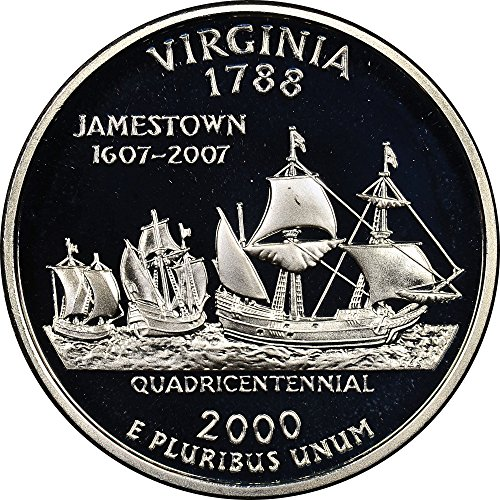 2000 S Virginia State Quarter Proof GEM BU++ Washington Proof Quarter Cameo