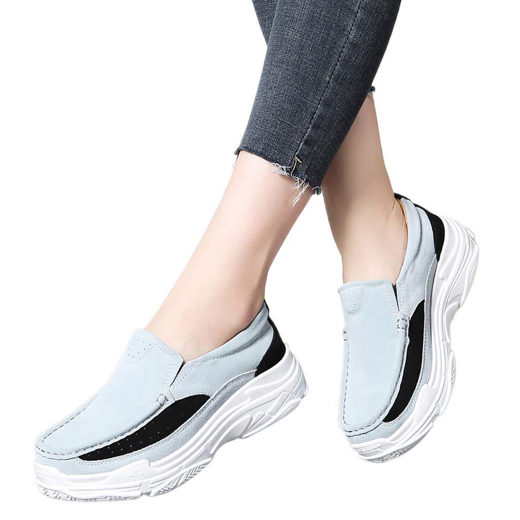 Fashion Womens Wedges Single Shoes Flat Bottom Sports Shoes Non-Slip Peas Shoes
