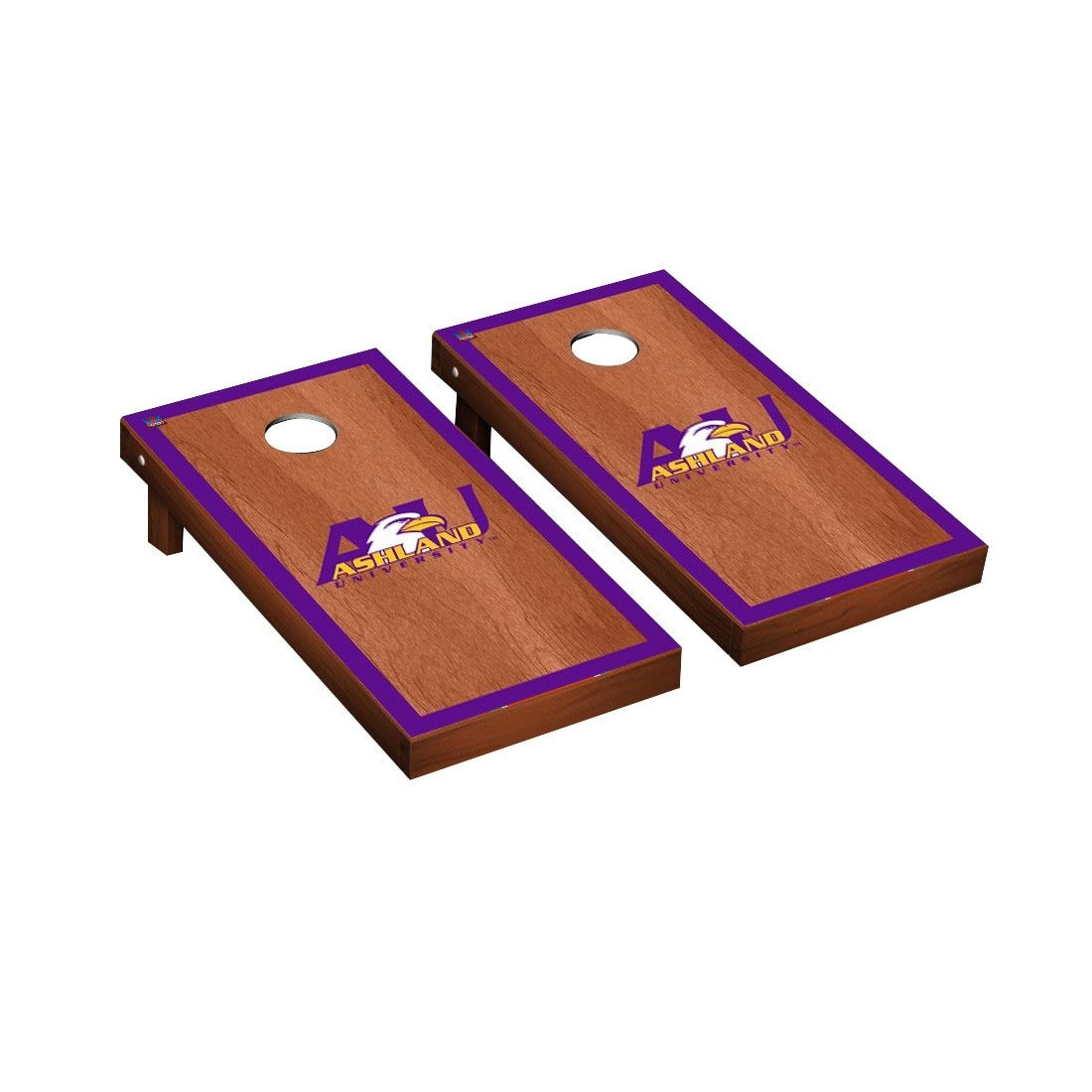 Victory Tailgate Ashland Eagles Regulation Cornhole Game Set Rosewood Stained Border Version