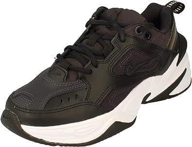 Nike M2K Tekno Black/Oil Grey White Ankle-High Leather Sneaker - 9M 7.5M