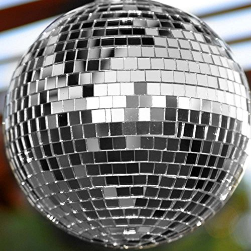 """Large 12"""" Mirror Glass Disco Ball DJ Dance Home Party Bands Club Stage Lighting ( WJY )"""