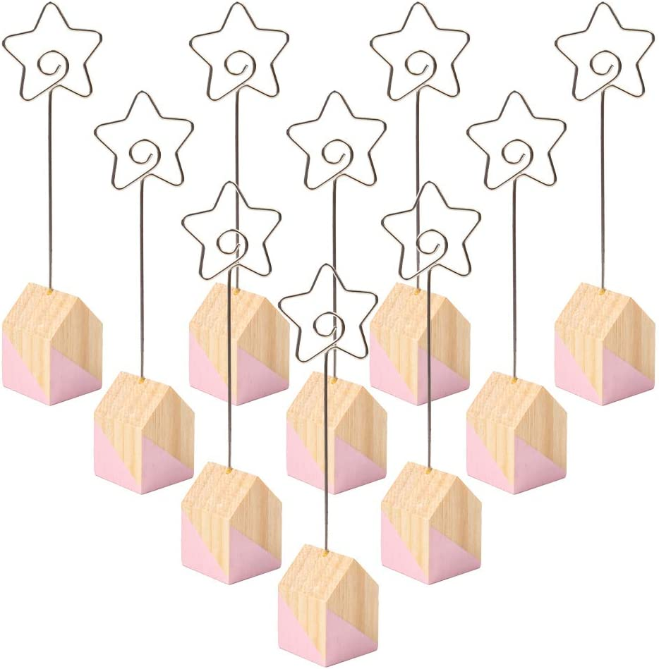 10pcs House Shape Table Number Holder Name Place Card Holder Memo Clip Holder Standr Pictures Card Paper Menu Clip