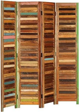 Tidyard Panel Biombo persiana Divisor Separador de Habitaciones Espacios de Madera Maciza reciclada 170 cm: Amazon.es: Hogar