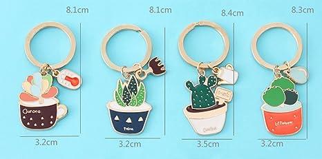 vikenner verde Cactus Forma llavero llavero bolso de mano ...
