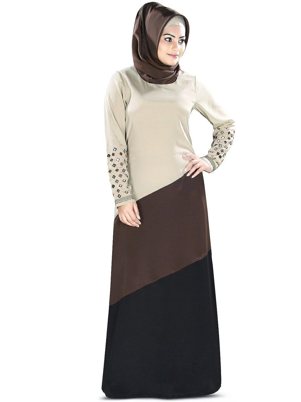 MyBatua muslimische Spiegel Arbeit bestickt eid & Party tragen einfach stilvolle abaya AY-380