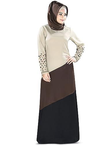 MyBatua specchio musulmano lavoro ricamato eid & partito semplice abaya AY-380 abbigliamento elegant...