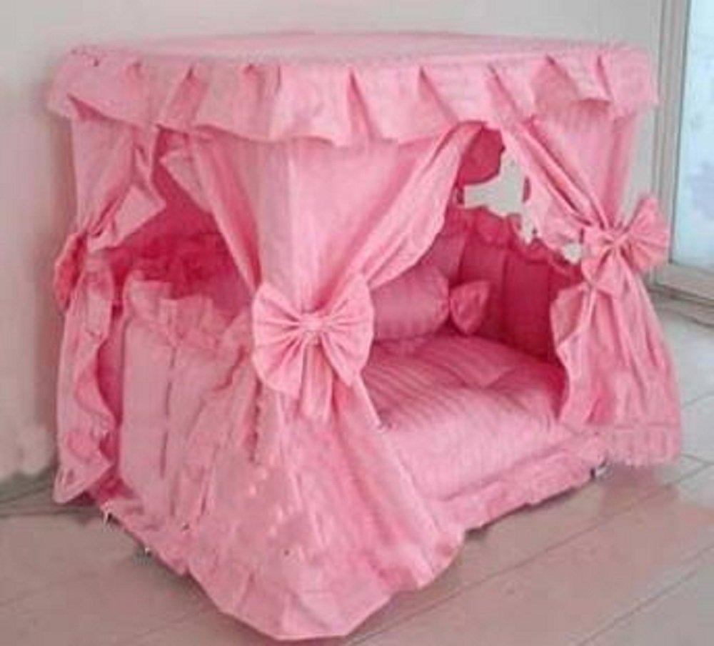 Amazon.com  Princess Canopy Pet Bed (Large 23.6 x 31.5 x 31.5 Pink)  Pet Supplies & Amazon.com : Princess Canopy Pet Bed (Large: 23.6 x 31.5 x 31.5 ...