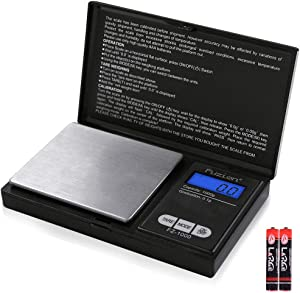 Fuzion Digital Pocket Scale 1000g/0.1g, Small Digital Scales Grams and Ounces, Herb Scale, Jewelry Scale, Portable Travel Food Scale(Battery Included)