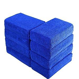 Car Wash Microfiber Sponges House Clean Sponge, Premium Grade Microfiber Applicators for Car Washing, Car Cleaning Kit, Car Exterior Care, Microfiber Applicator Pad for Cleaning