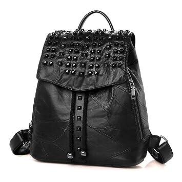 bolso mochila mujer estilo rock and roll Remache Mochilas tipo casual bolsos de viaje moochila de shopper Negro Bolsos Mochila: Amazon.es: Equipaje
