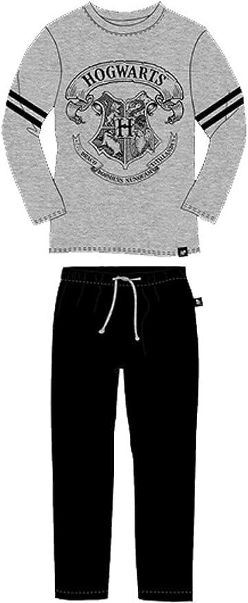 Pijama Harry Potter Hombre 100% algodón Talla L Hogwarts