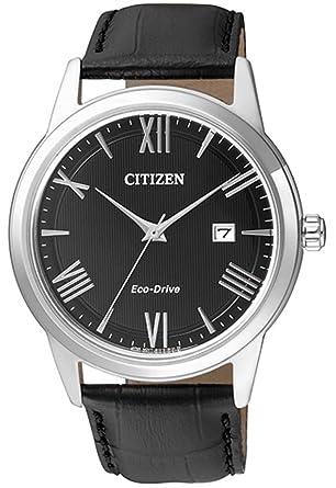 Citizen Reloj Analógico para Hombre de Cuarzo con Correa en Cuero AW1231-07E: Amazon.es: Relojes
