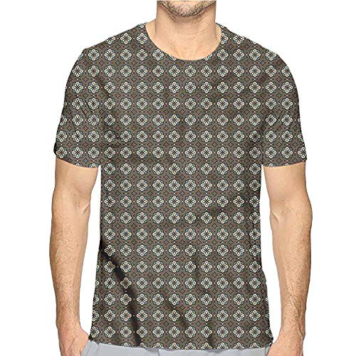 bybyhome t Shirt Geometric,Stars and Squares Printed t Shirt L ()