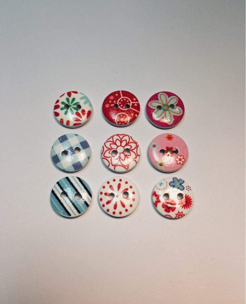 greedeko Botones Manualidades selbstgestalten Mix 100/Stk Surtido 12/ /20/mm Set DIY