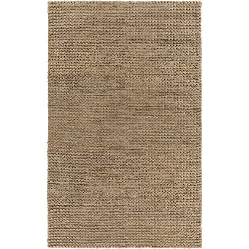 Surya TRO1036-3656 Hand Woven 100-Percent Jute Natural Fiber Accent Rug, 3-Feet 6-Inch by 5-Feet 6-Inch