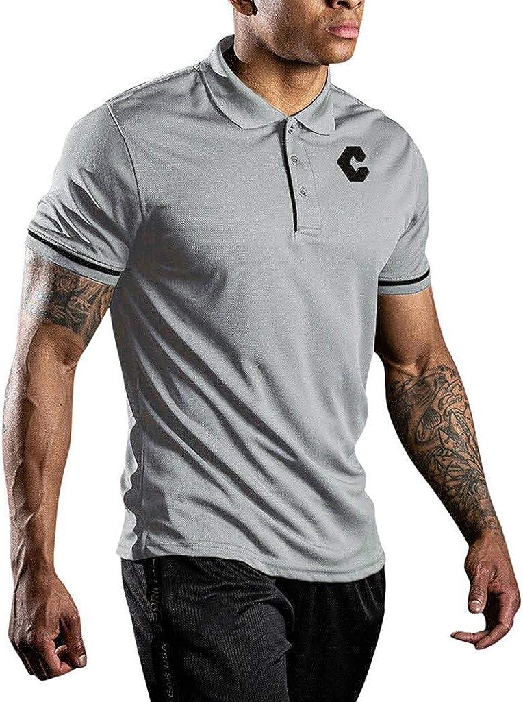 MOTOCO Hombre Camiseta Tops Deportes Secado RáPido Respirable ...