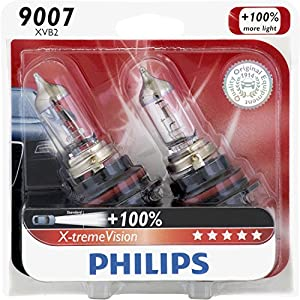 2 x PHILIPS 9007 XPB1 X 1 BULB 65/55W X-treme Power DOT HEADLIGHT HALOGEN