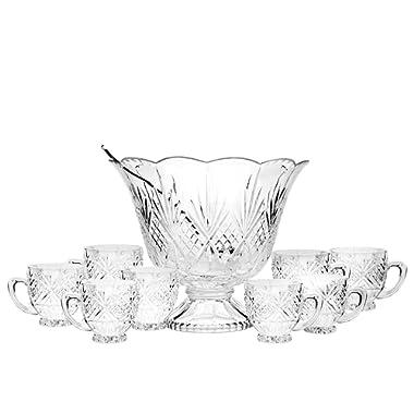 Godinger Silver Art Dublin Crystal 10 Piece Punch Set