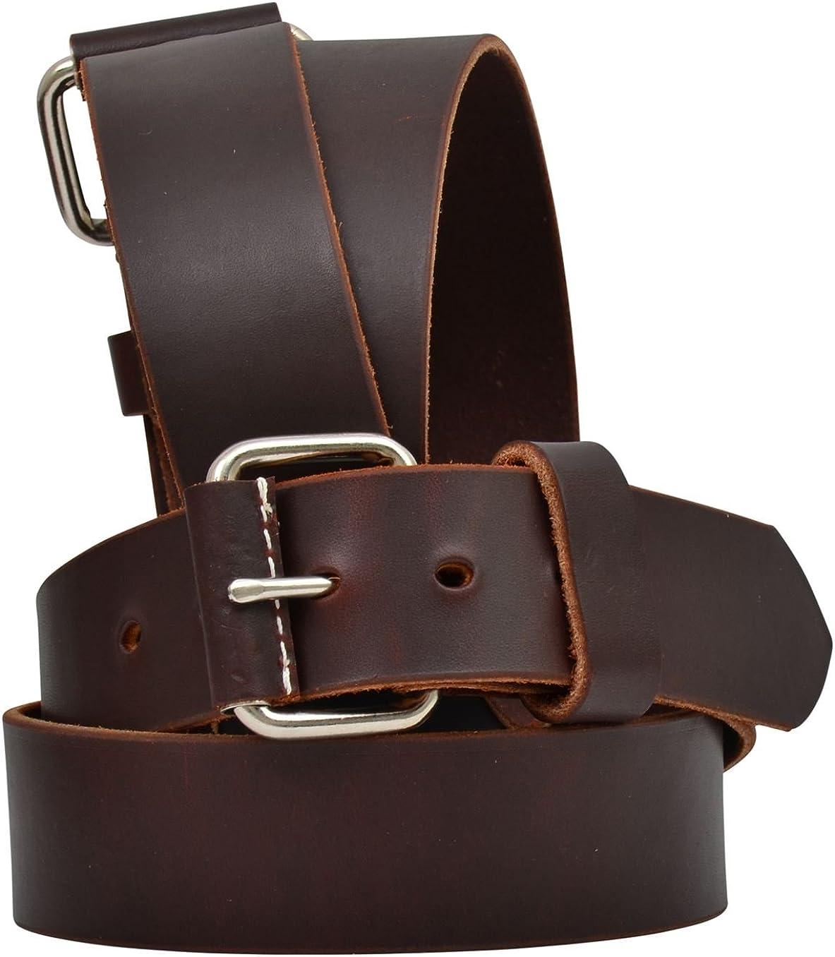 3D 1 3//8 Brown Mens Western Basic Ranger Belt