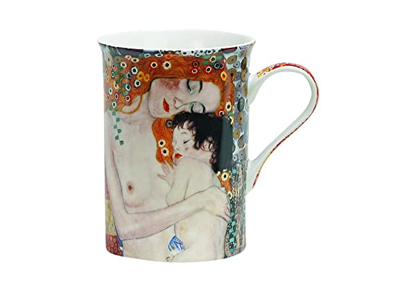 "Taza Madre e Hija del cuadro ""Las tres edades de la Mujer"" de Gustav Klimt"