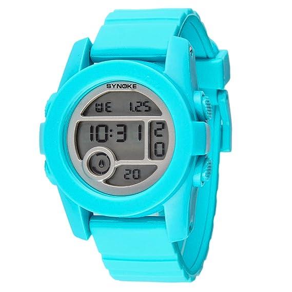 Niños Reloj electrónico natación Estudiante Impermeable luz Nocturna Multi-función-D: Amazon.es: Relojes
