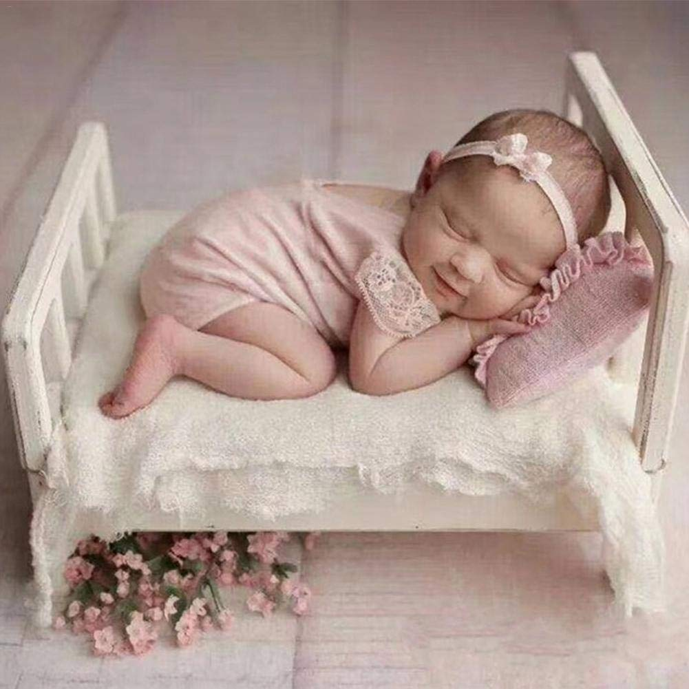 Newborn Photography Props Cot Baby Photo Small Wooden Bed Newborn Props Bed Posing Props Photo Studio Crib Props for Photo Shoot Posing Sofa Baby Photography by oshide (Image #4)