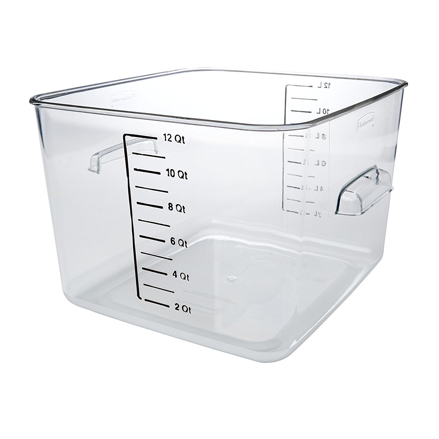 Rubbermaid Commercial Carb-X Space Saving Square Food Storage Container, 12-Quart, Clear (FG631200CLR) by Rubbermaid Commercial Products