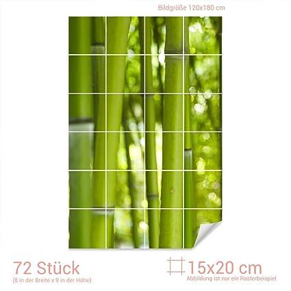 Grazdesign Tegelsticker Tegelafbeelding Bamboe In Groen Wanddecoratie Voor Badkamer Keuken Tegels Tegelafmeting 15x20cm Bxh Afbeelding 120x180cm Bxh Amazon Nl