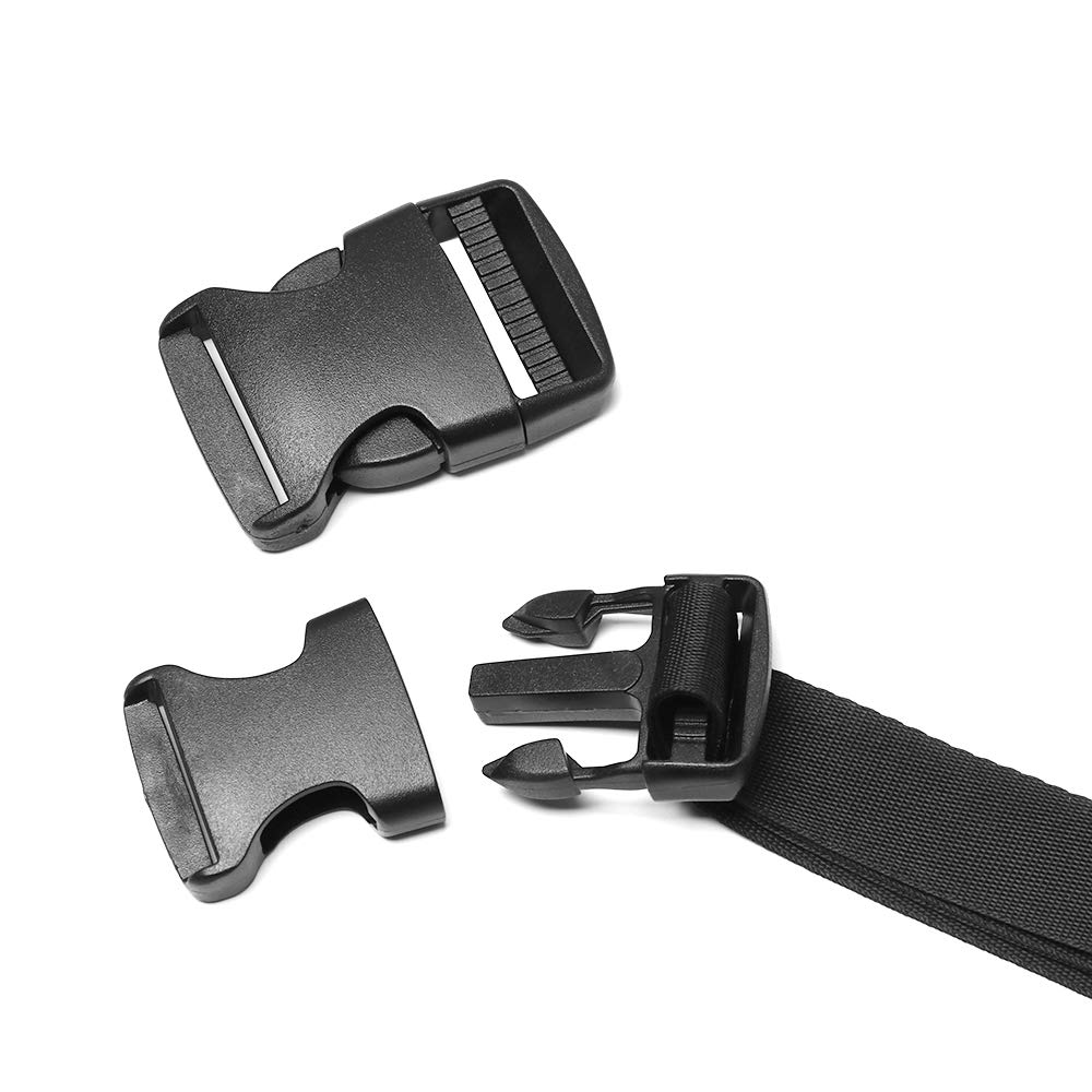 0.6inch,2pcs Premium Buckles Quick Side Release Multiple Size and Quantity Replacement Plastic Buckles for Luggage Strap Backpack Repairing Fanny Pack Nylon Webbing Belt Pet Collar