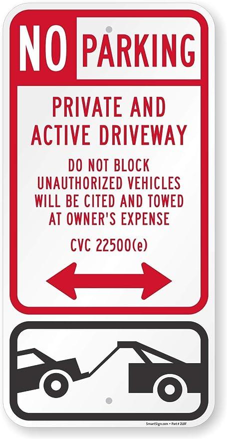Amazon.com: SmartSign letrero de estacionamiento con el ...