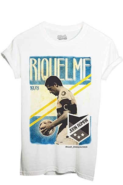 MUSH Camiseta Riquelme Argentina fútbol Vintage – Sport by Dress Your Style blanco