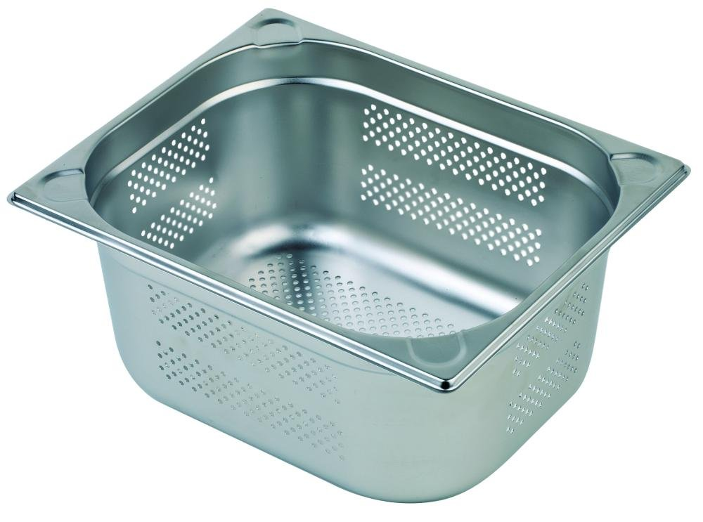 Vogue Stainless Steel Perforated Full Size Gastronorm Pan 40mm 40mm deep.