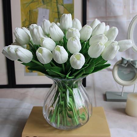 Amkun 10pcs Realistic Pu Artificial Holland Tulip Flowers Life Like