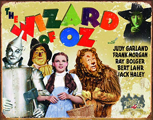 Desperate Enterprises The Wizard of Oz - 70th Anniversary Tin Sign, 16
