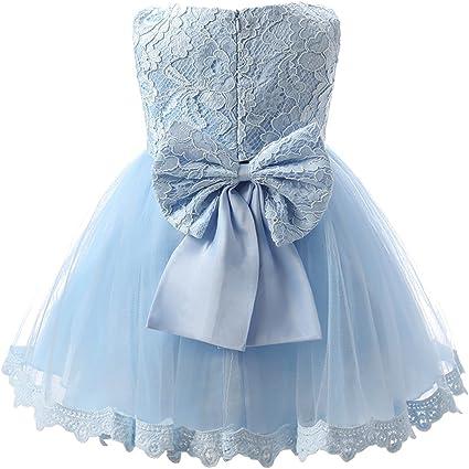 Vestiti Cerimonia 12 Mesi.Vestito Bambina Cerimonia Principessa Pizzo Abito Senza Maniche