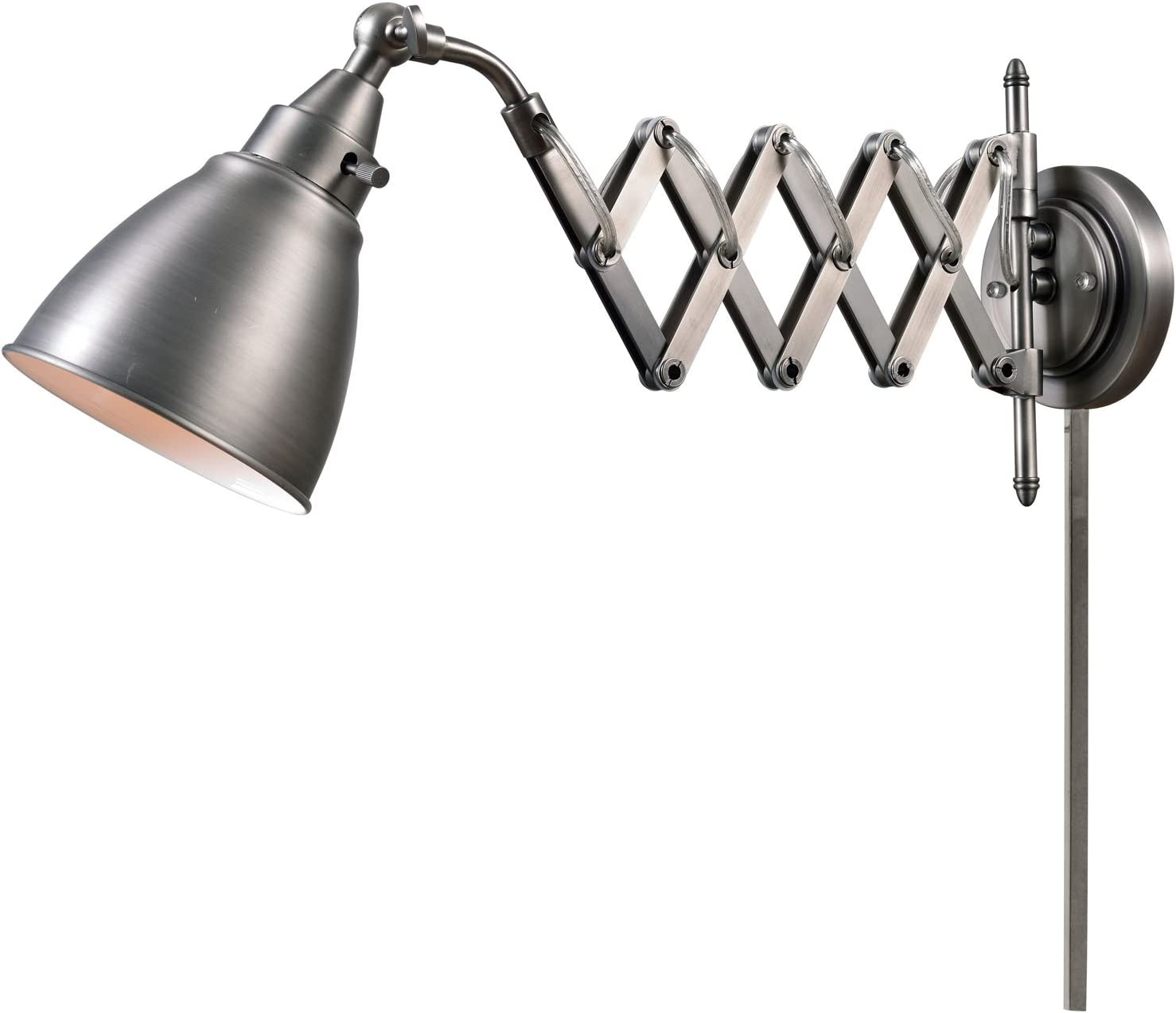 Kenroy Home 32197ANI Floren Swing Arm Lamp, Antique Nickel by Kenroy Home