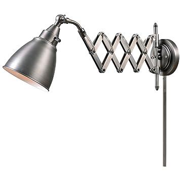 Kenroy Home 32197ANI Floren Swing Arm Lamp, Antique Nickel