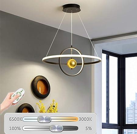 Elípticas Lámparas Modernas LED Colgante De Acero Inoxidable Dormitorio Luces Pendientes Luz De Techo De Luz Pie Para Diseño Ideal Para Mesa De La Cocina Comedor Tienda De Sala De Estar,Negro,60cm: Amazon.es: