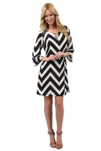 Ingear 3/4 Sleeve Short Dress With Buckle