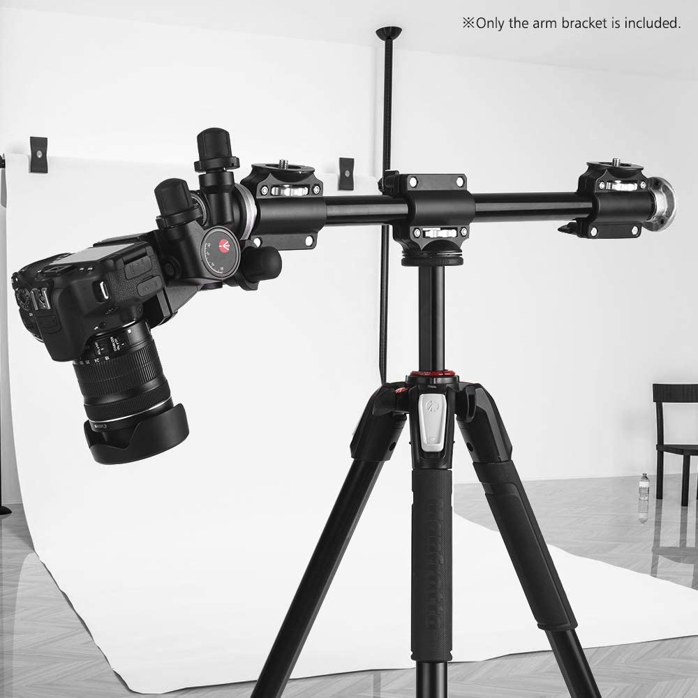 Andoer Adjustable Aluminiun Alloy Tripod Boom Horizontal Camera Mount Extension Arm with 3//8 Inch Screw for Overhead Product Photography for Ballhead Cameras