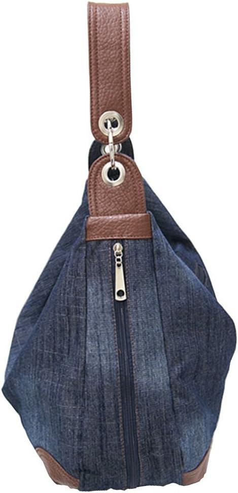 Ichic Boutique(TM Sac à Main Femme en Jeans Porté Bandoulière Bleu Foncé